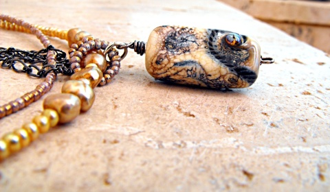 Lampwork pendant, artisan created